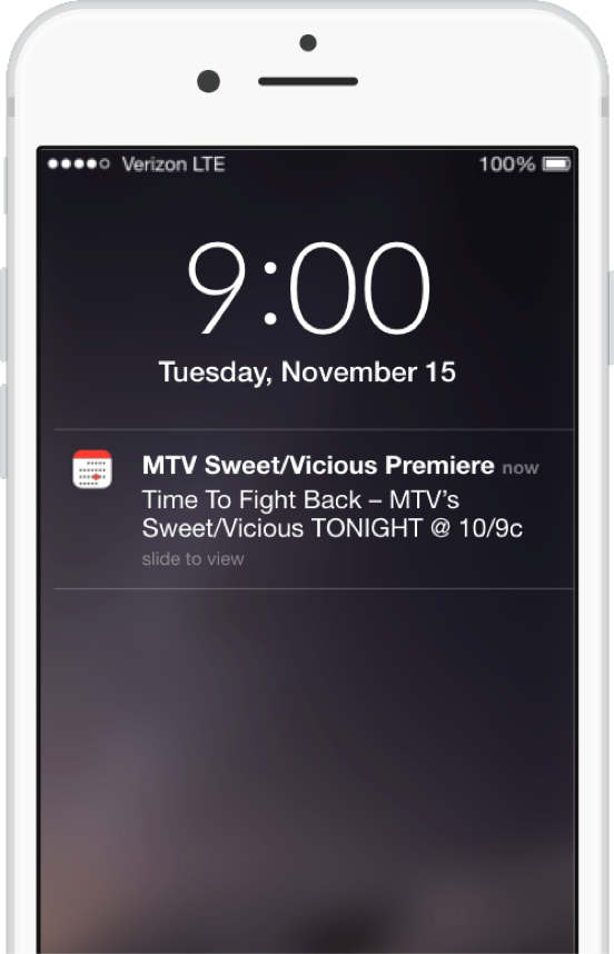 Show Premiere Reminder iPhone
