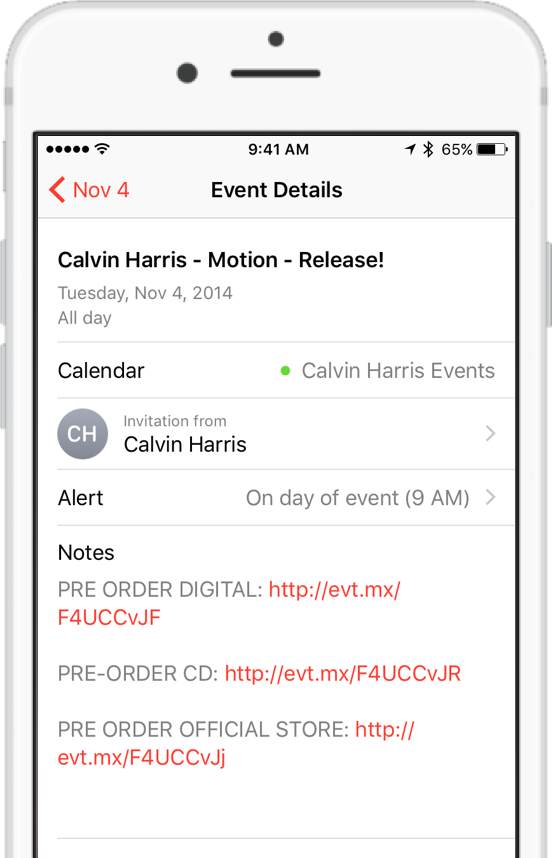 Customize your Calendar Event Message on iPhone